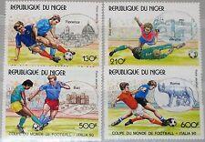 NIGER 1990 1090-93 C382-85 Soccer World Cup Italy Fußball WM Football MNH