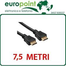 Cavo HDMI da 7,5mt metri con Ethernet Alta velocità Maschio/Maschio Full HD