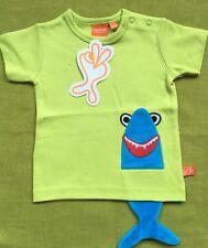Scandi green Shark Kids tshirt BNWT By Lipfish s/slv 3 yrs (euro 98)