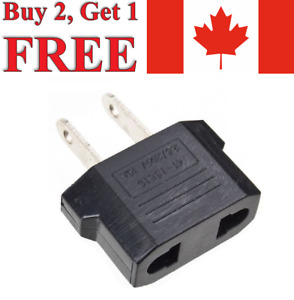 EU (Europe) to US (Canada) Converter Power Plug Travel Adapter