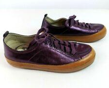 FitFlop Women's Supertone Purple Metallic Leather 114-090 Lace Up Sneaker Sz 8