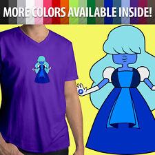 Steven Universe Sapphire Garnet Fusion Crystal Gems Ruby Mens Tee V-Neck T-Shirt