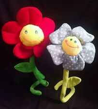 """2  25"""" SMILEY PLUSH FLOWERS BEST MADE TOYS & Bones Pictures and Toys"""