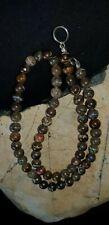 Australian Queensland Natural Boulder Opal Bead Necklace.