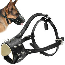 Adjustable Leather Dog Muzzle for Medium Dogs