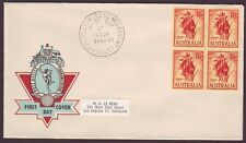 1960 1/6 FLOWER BLOCK OF 4 ON OFFICIAL  PO HERMES FIRST DAY COVER (PS3692)
