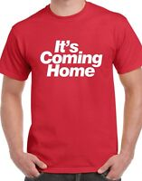 It's Coming Home T-Shirt - England World Cup 2018 Russia 3 Three Lions White Red