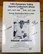 Reggie Jackson Signed 19x25 Show Ad JSA/PSA Guarantee