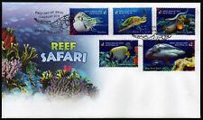 2018 Reef Safari *Alternate No White Bars* FDC Stamps Australia Post