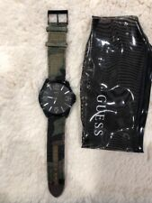 Men's GUESS Watch W0181G5 Camouflage Military Oversize