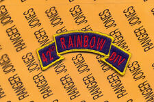 US Army 42nd Infantry Division RAINBOW scroll patch