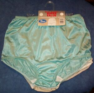 3 Pair Size 7 Assorted Nylon Tricot Brief Panty USA Made Roses CLOSE OUT!