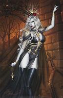 Lady Death Print, Art by Dawn McTeigue (11x17) Comic Art