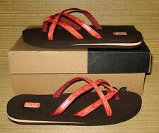 NEW Teva Olowahu Mush Orange Flip Flops Thongs Sandals WOMENS 11