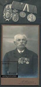 Foto ca. 1890 Veteran 1870/71 Krieg mit selten bayerischen Orden Ordenspange