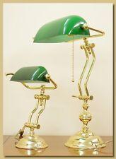 Lampada da Tavolo, Ottone, Ministeriale Piccola art. LT100P (verde-base tonda)