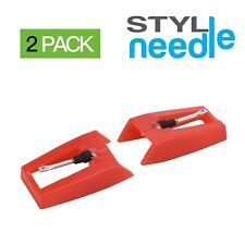 Stylineedle Pack of 2 Diamond Tip Needle for Turntables Crosley Ion Jensen BU