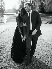 "HARRY AND MEGHAN MARKLE AT FROGMORE PIC BLACK & WHITE FRIDGE MAGNET 5"" X 3.5"""