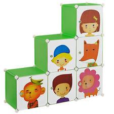 [neu.haus]® Kinder Regalsystem DIY 110x110cm Kleiderschrank Steck Kommode Motiv