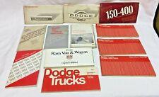 12 Vintage Dodge Truck, Ram & Van Owners Manuals Lot *