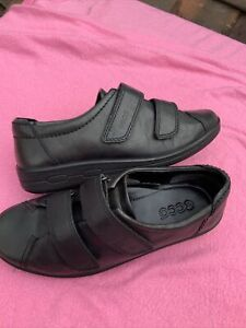 Ecco Black Leather Ankle Boots Size 3/36 (123BB)