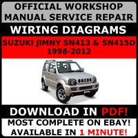 # OFFICIAL WORKSHOP Repair MANUAL for SUZUKI JIMNY 1998-2012 #