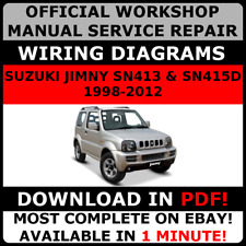 OFFICIAL WORKSHOP Repair MANUAL for SUZUKI JIMNY 1998-2012 #