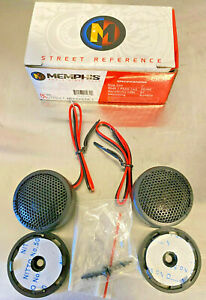 "Memphis Audio SRX1 1"" Inch Soft Dome Tweeter 80 Watts Street Reference Pair NEW"
