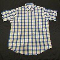 Brooks Brothers Button Down Shirt Mens L Multicolored Checkered Plaid Cotton