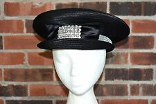 Ladies Hat WHITTALL & SHON Women's Black Hat with Rhinestones Formal Style
