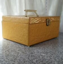 retro mid-century sewing box craft carry case