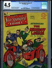Star Spangled Comics #7 CGC 4.5 1942 Golden Age DC 1st Newsboy Legion K18