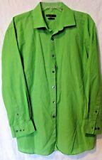VAN HEUSEN STUDIO LIME GREEN SLIM FIT STRETCH DRESS SHIRT 17 1/2 32/33