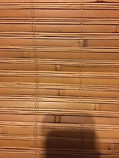 Interior Roman Shade Flat Weave Bamboo, Honey