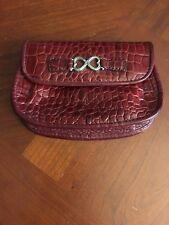Brighton Red Croc Leather   Pocket   Wristlet / Wallet