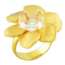 Carrera y Carrera style 18K Yellow Gold 0.15CT Diamond Flower Ring 9.5 Grams
