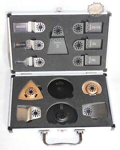 13 tlg. Zubehör Sägeblatt Set für Fein Multimaster Bosch Worx Oszillationsägen
