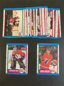 1989/90 OPC O-Pee-Chee Montreal Canadiens Team Set 17 Cards