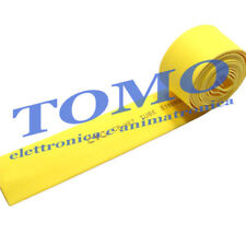 Guaina termorestringente 12,7mm di colore giallo 1m