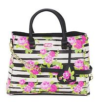 NWT AUTHENTIC LUV BETSEY JOHNSON $78 Triple Compartment Floral Satchel Bag Purse
