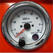Sumex Gaug550 Tachometer With Shift Light 12 V - White - 90mm 12 Car Chromed