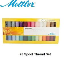 Mettler Machine Embroidery Thread box set Poly Sheen - 28 Basic Common Colours