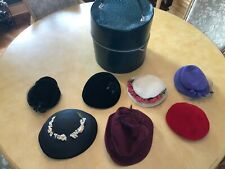 7 Vintage Ladies Hats and Large Hat Box
