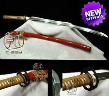 JAPANESE NINJA SAMURAI SWORD KATANA T10 STEEL SHARP BLADE CAN REDUCE TREE#624