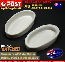 Ceramic Dish Reptile Food Water Feeding Bowl Dish Turtles Gecko Snake Feeder Pet