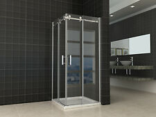 850x850 mm Bi Fold Semi Frameless Square Sliding Door shower screen DIY