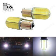 1 Paar 1156 581 COB 8W LED Auto Tagfahrlicht Lampen Rücklicht Xenon Weiss 12V