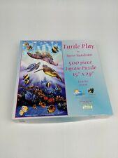 SunsOut Turtle Play 500 Piece Puzzle Jigsaw Steve Sundram 70726 Ocean Turtles