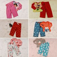 Baby Girls Size 24m/2t Mixed Winter Pajamas Lot