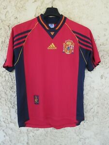 Maillot ESPAGNE SPAIN ESPANA World Cup 1998 vintage ADIDAS shirt camiseta XS